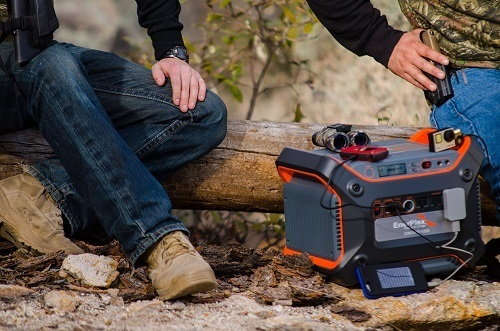 Enerplex Generatr 1200E Portable Lithium-Ion Battery Generator On Camping Trip