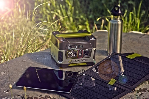 Goal Zero Yeti 150 Solar Generator On Table