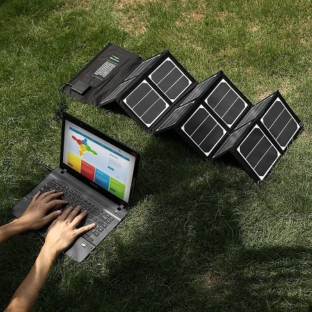 Laptop Charging With Solar Panel Charger
