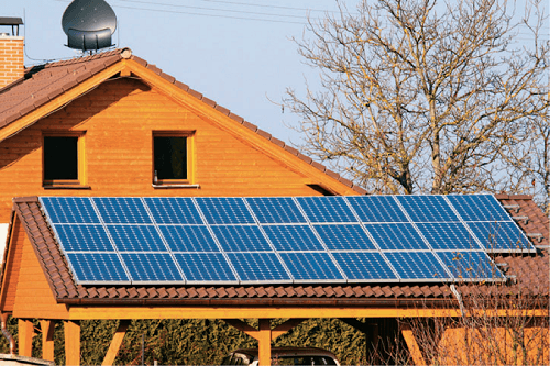 Solar Panel On The House Roof