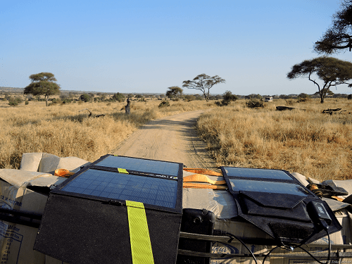 Solar Panel Charger On Trip
