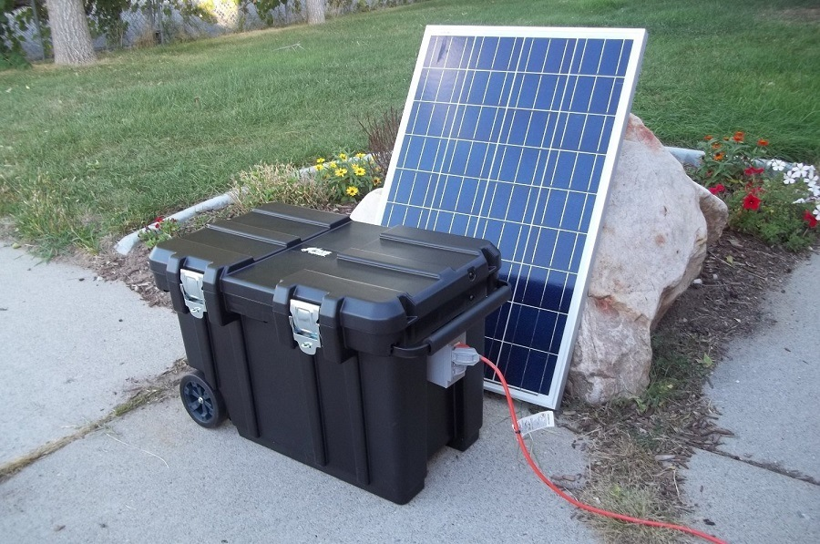 Be Prepared Solar 5000 Watt 200Ah Solar Generator w/ Two Solar Panels