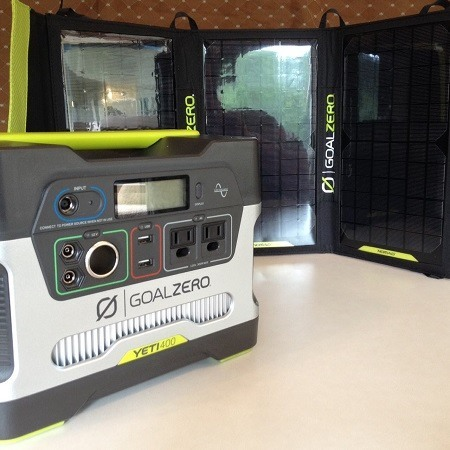 Goal ZeroYeti 400 Solar Generator In Use
