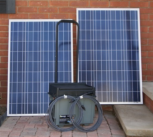Portable Solar Generator Plug N Play 100 Watt Solar Panel