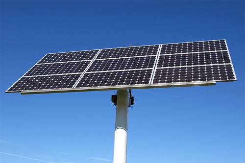 Sun Charges Solar Panels