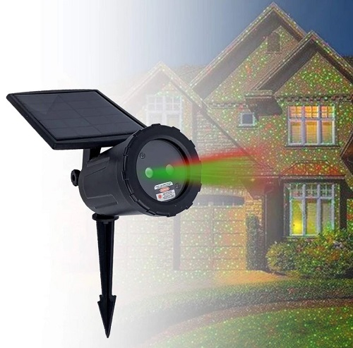 Solar-Powered Laser Light Projectors