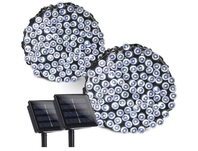 solar operated christmas lights